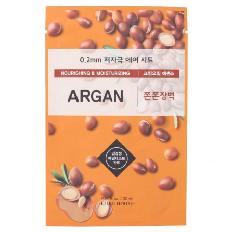 Тканевая маска для лица с маслом арганы Etude House 0.2 Therapy Air Mask Argan - фото 1