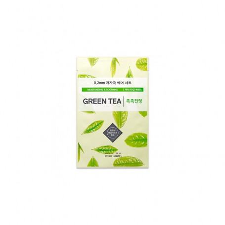 Тканевая маска для лица с экстрактом зеленого чая Etude House 0.2 Therapy Air Mask Green Tea - фото 1