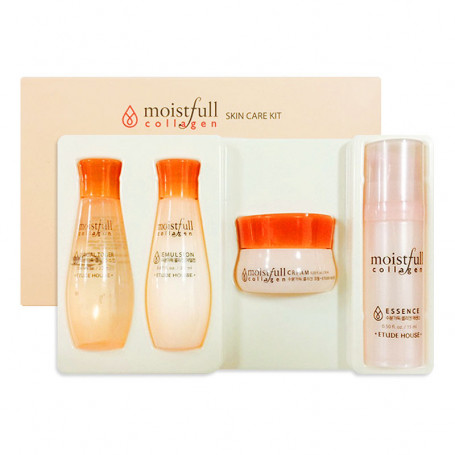 Набор миниатюр с коллагеном Moistfull Collagen Skin Care Kit Etude House - фото 1
