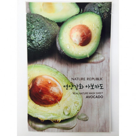 Тканевая маска для лица с экстрактом авокадо Nature Republic Real Nature Mask Sheet Avocado - фото 1