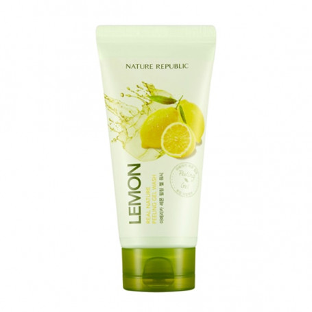 Пилинг-гель с экстрактом лимона Nature Republic Real Nature Lemon Peeling Gel Wash - фото 1