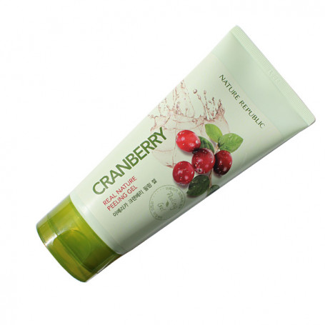 Пилинг - гель с экстрактом клюквы Nature Republic Real Nature Cranberry Peeling Gel - фото 1