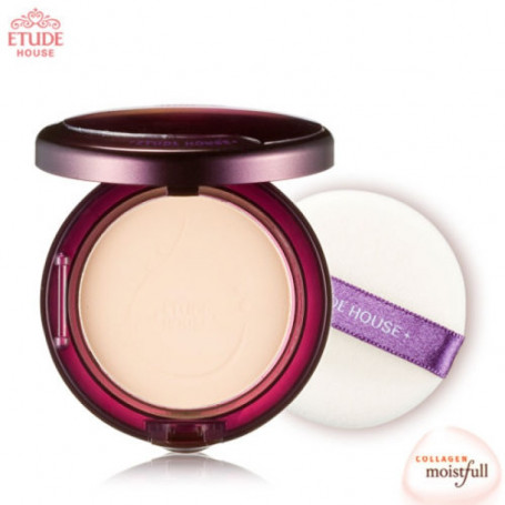 Компактная пудра с коллагеном Etude House Moistfull Collagen Essence in Pact SPF25 PA++ 12g No.Light Beige - фото 1