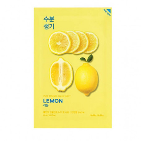 Тканевая маска для лица с экстрактом лимона Holika Holika Pure Essence Mask Sheet - Lemon - фото 1