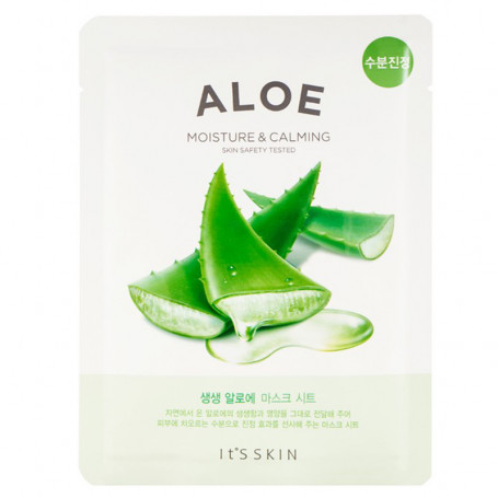 Тканевая маска для лица с экстрактом алоэ It's Skin The Fresh Aloe Mask Sheet - фото 1