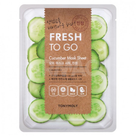 Тканевая маска для лица с экстрактом огурца Tony Moly Fresh To Go Mask Sheet Cucumber - фото 1