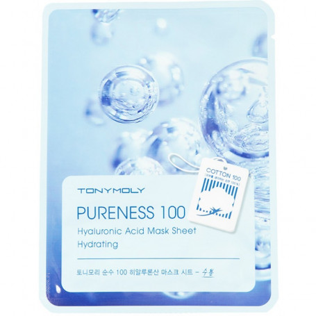 Тканевая маска с гиалуроновой кислотой Tony Moly Pureness 100 Hyaluronic Acid Mask Sheet Hydrating - фото 1