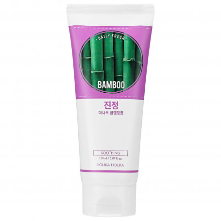 Очищающая пенка Holika Holika Daily Fresh Bamboo Cleansing Foam - фото 1