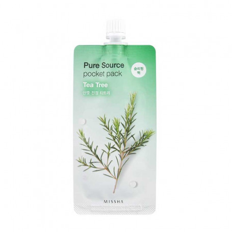 Ночная маска для лица с экстрактом чайного дерева Missha Pure Source Pocket Pack Tea Tree - фото 1