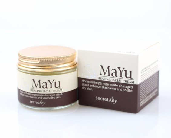 Крем восстанавливающий с конским жиром Secret Key MAYU Healing Facial Cream - фото 1