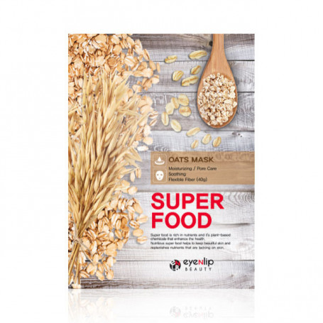 Тканевая маска с экстрактом овса Eyenlip Super Food Oats Mask - фото 1