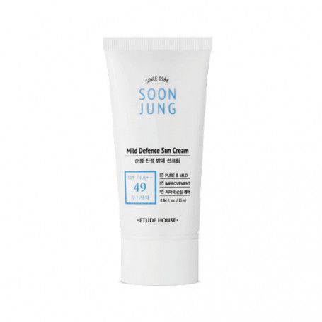 Солнцезащитный крем Etude House Soon Jung Mild Defence Sun Cream SPF49 PA++ - фото 1