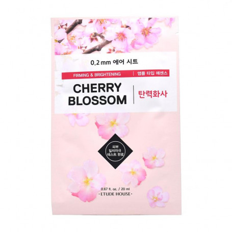 Тканевая маска для лица с экстрактом сакуры Etude House 0.2 Therapy Air Mask Cherry Blossom - фото 1