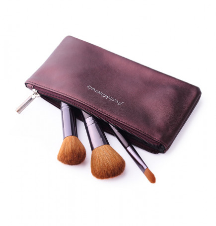 Набор из 3 кистей frеshMinerals Brush and Cosmetic Bag - фото 1